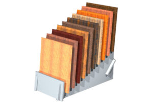 Sample Tote Boards and Display Boards for Coatings and Finishes